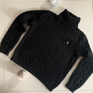 Ralph Lauren Sport Cable Knit Turtleneck Sweater